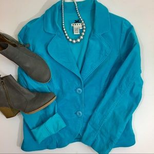 Tiffany Blue Corduroy Blazer
